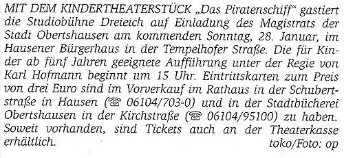 Offenbach Post, 23.01.2007